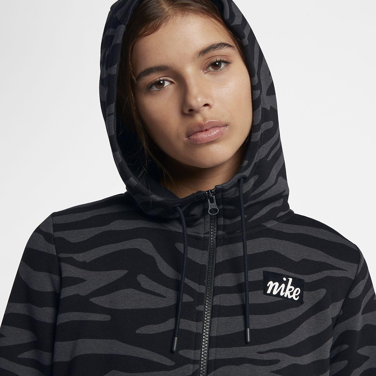 a12b9d7b715c Nike Sportswear Women s Full-Zip Animal Hoodie. Nike.com ZA