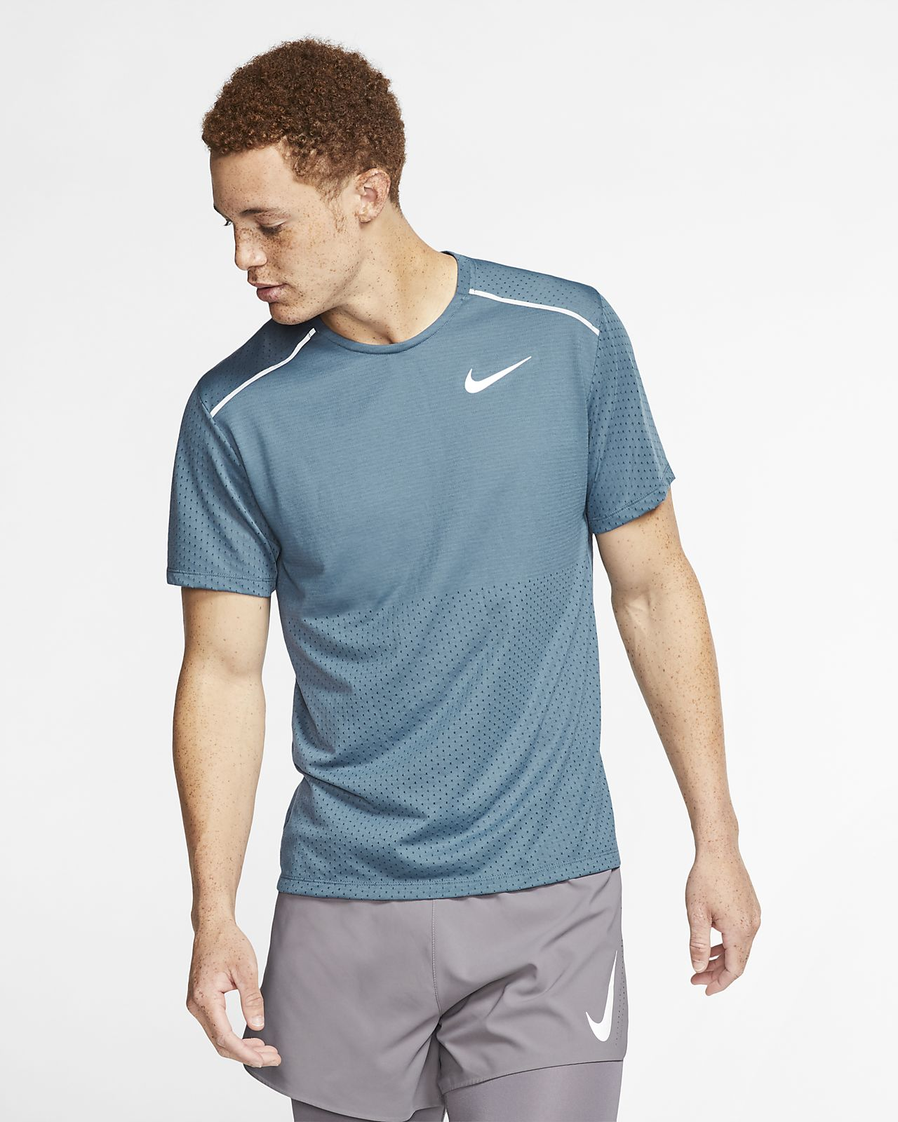 Camiseta de running de manga corta para hombre Nike Rise 365
