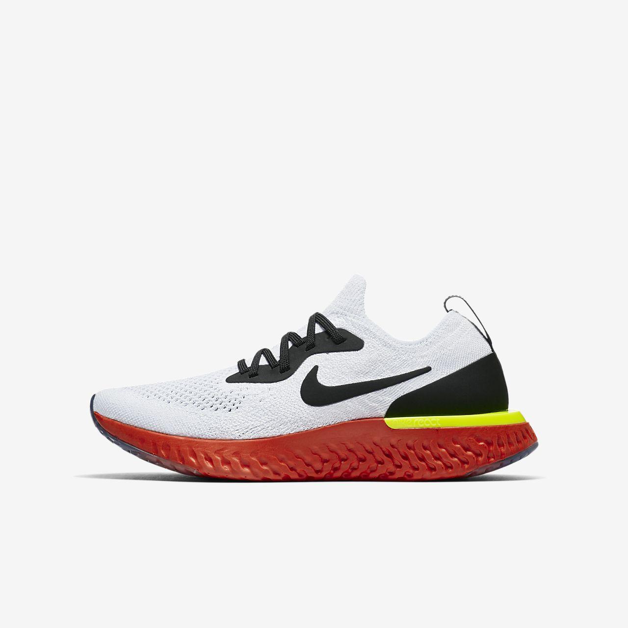 e0a9ed07f3afd Nike Epic React Flyknit 1 Big Kids  Running Shoe. Nike.com