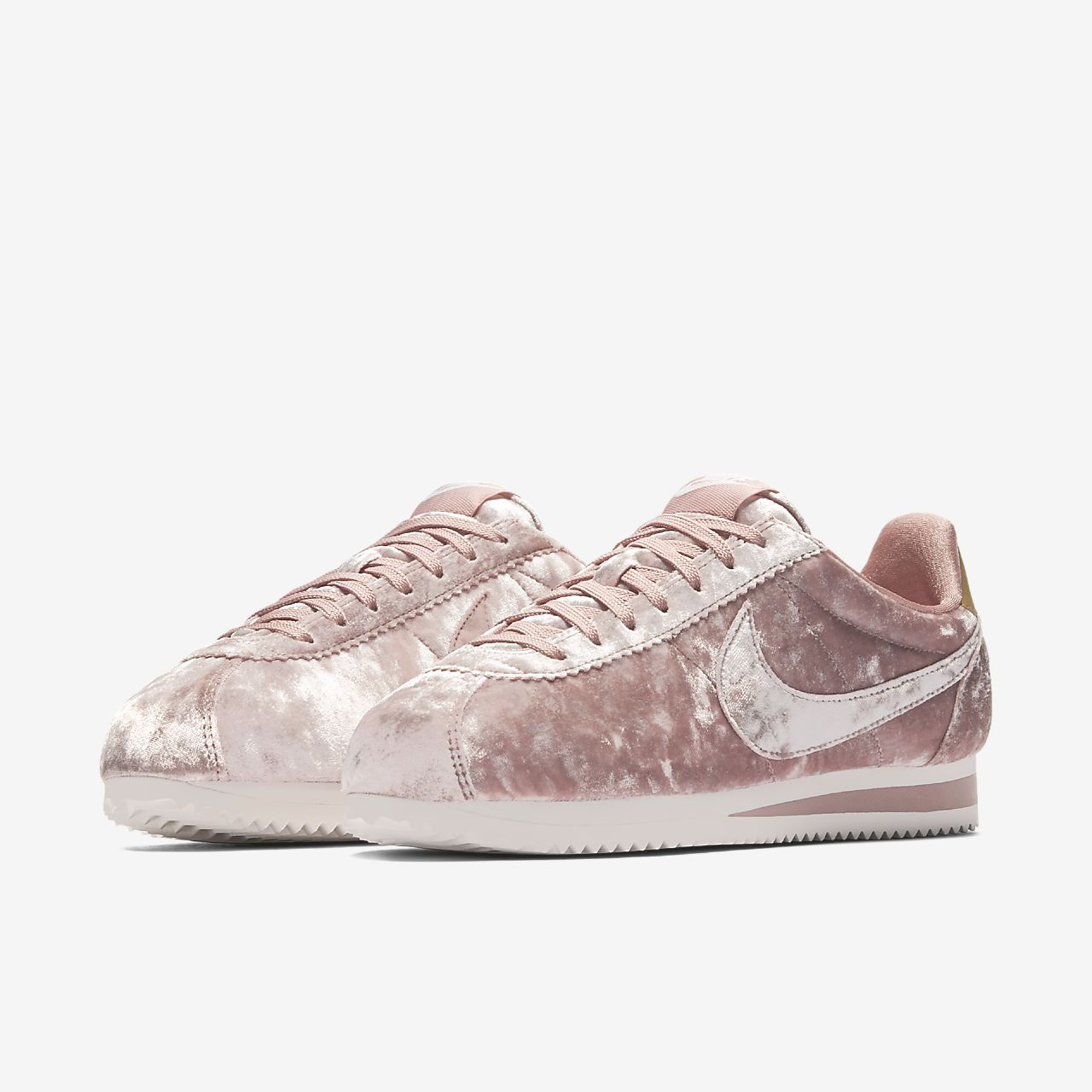 Most Popular Shoes Nike Classic Cortez crushed velvet sneakers Black Women
