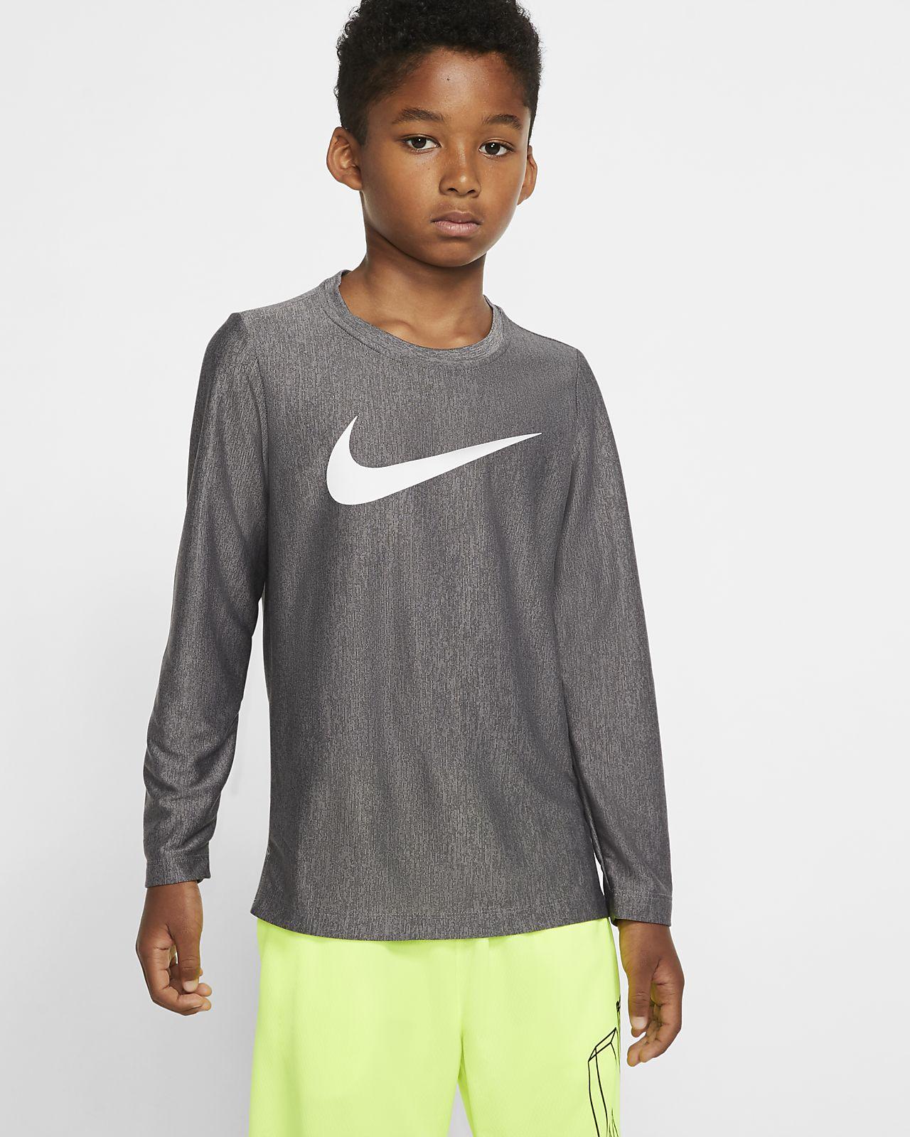 Haut de training à manches longues Nike Dri-FIT pour Garçon