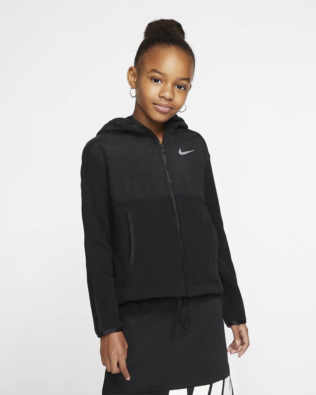 Nike Therma Trainingshoodie met ritssluiting voor meisjes