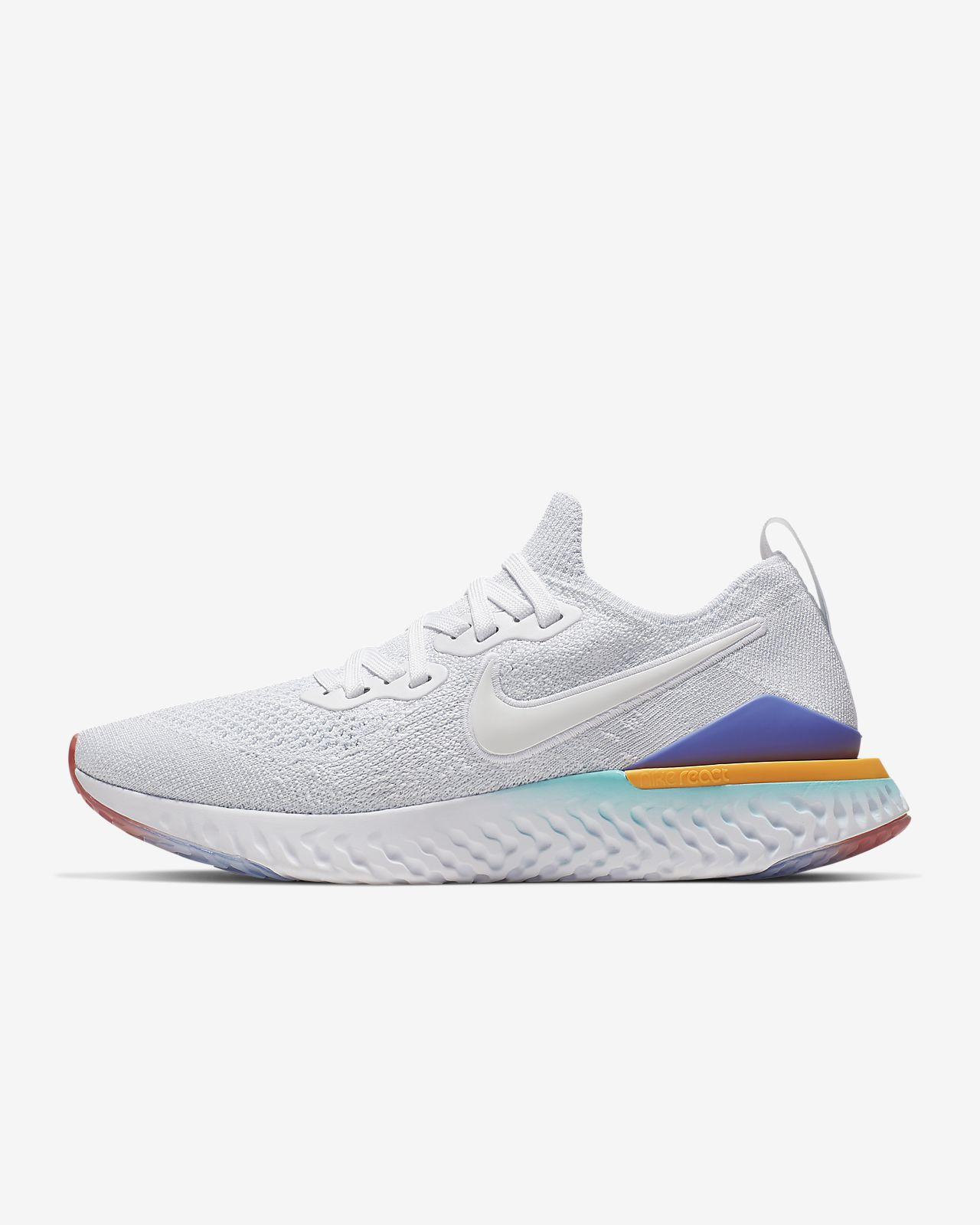 Athletic Shoes 2019 New Style Womens Nike Epic React Flyknit Size 8 Running Shoes Training Black Gray