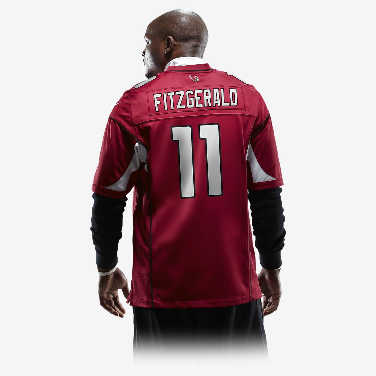 online retailer 137c6 30665 NFL Arizona Cardinals (Larry Fitzgerald) Men's American Football Game Jersey