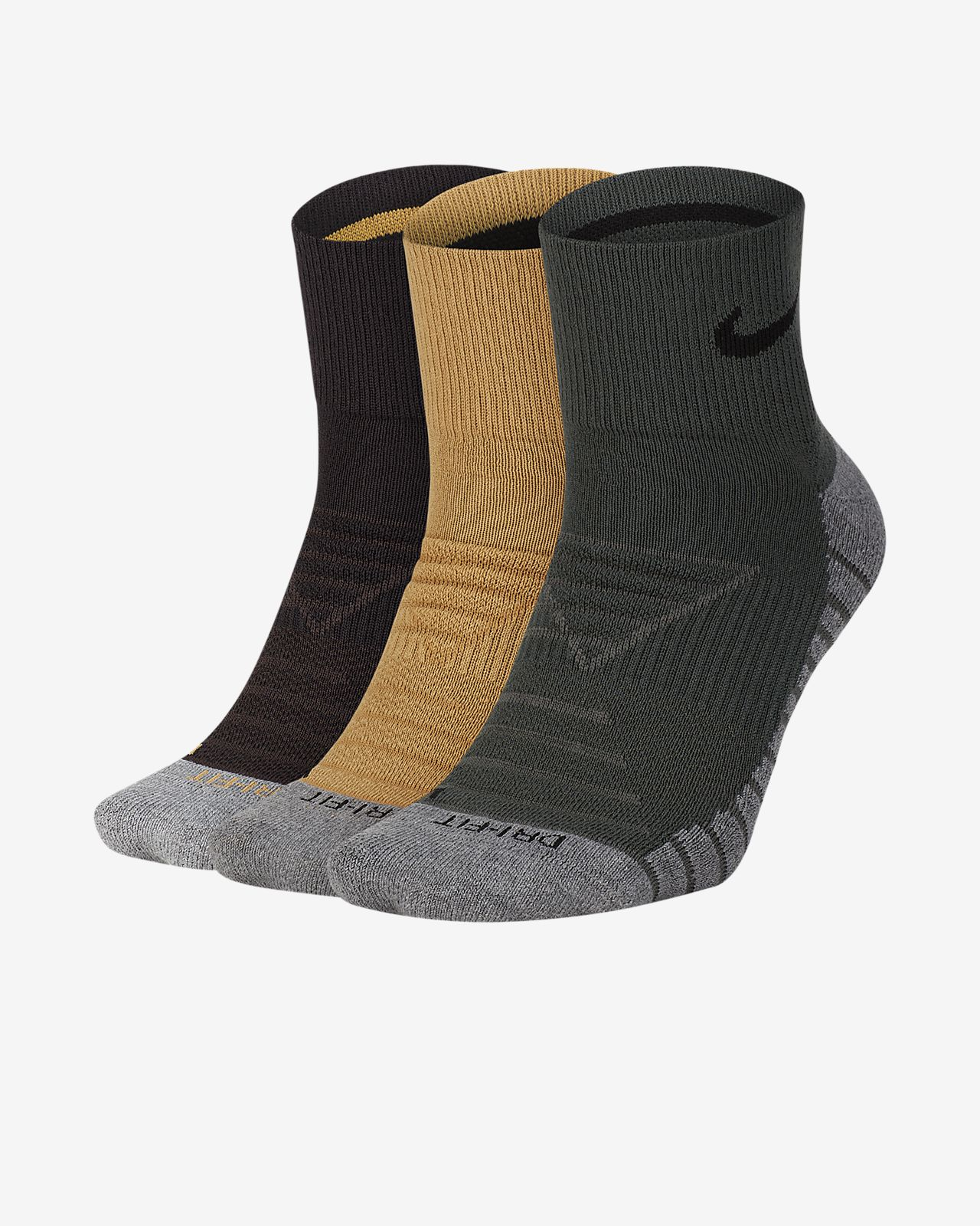 Nike Dry Cushion Quarter Training Socks (3 Pair)