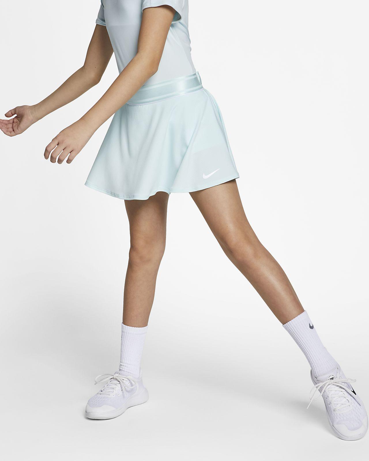 NikeCourt-tennisnederdel til store børn (piger)
