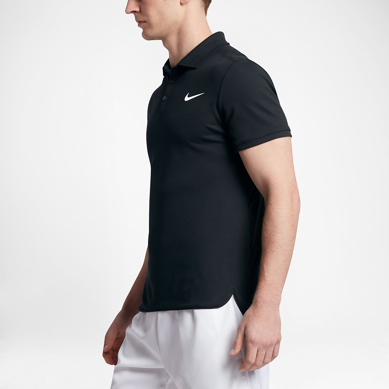 Nike - Court Dry Advantage Hommes Tennis Polo (noir) - S