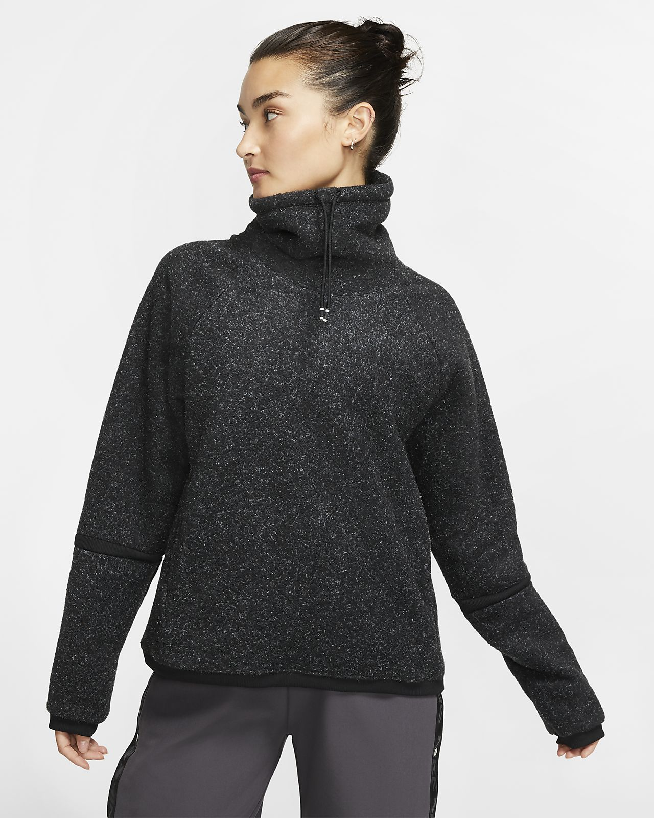 Nike Therma Part superior de màniga llarga de teixit Fleece d'entrenament - Dona