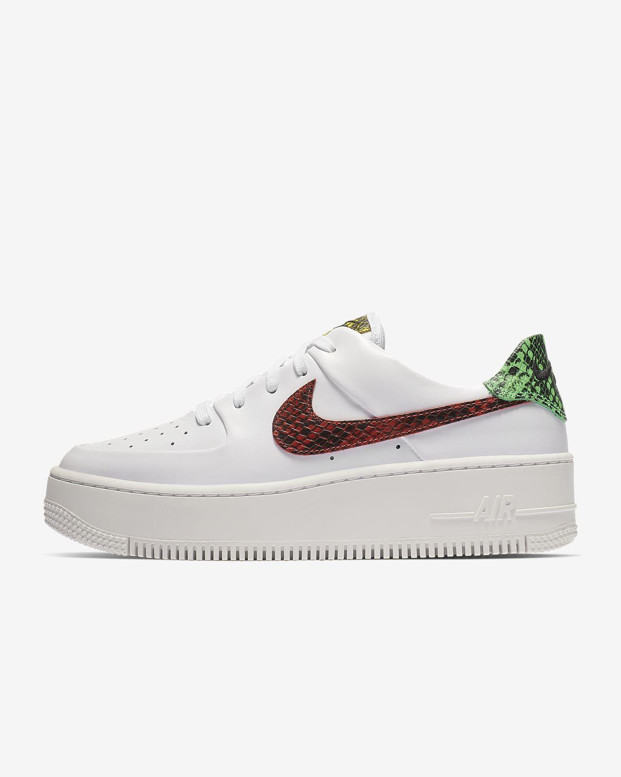 new style 71554 9f818 ... Nike Air Force 1 Sage Low Premium Animal-sko til kvinder