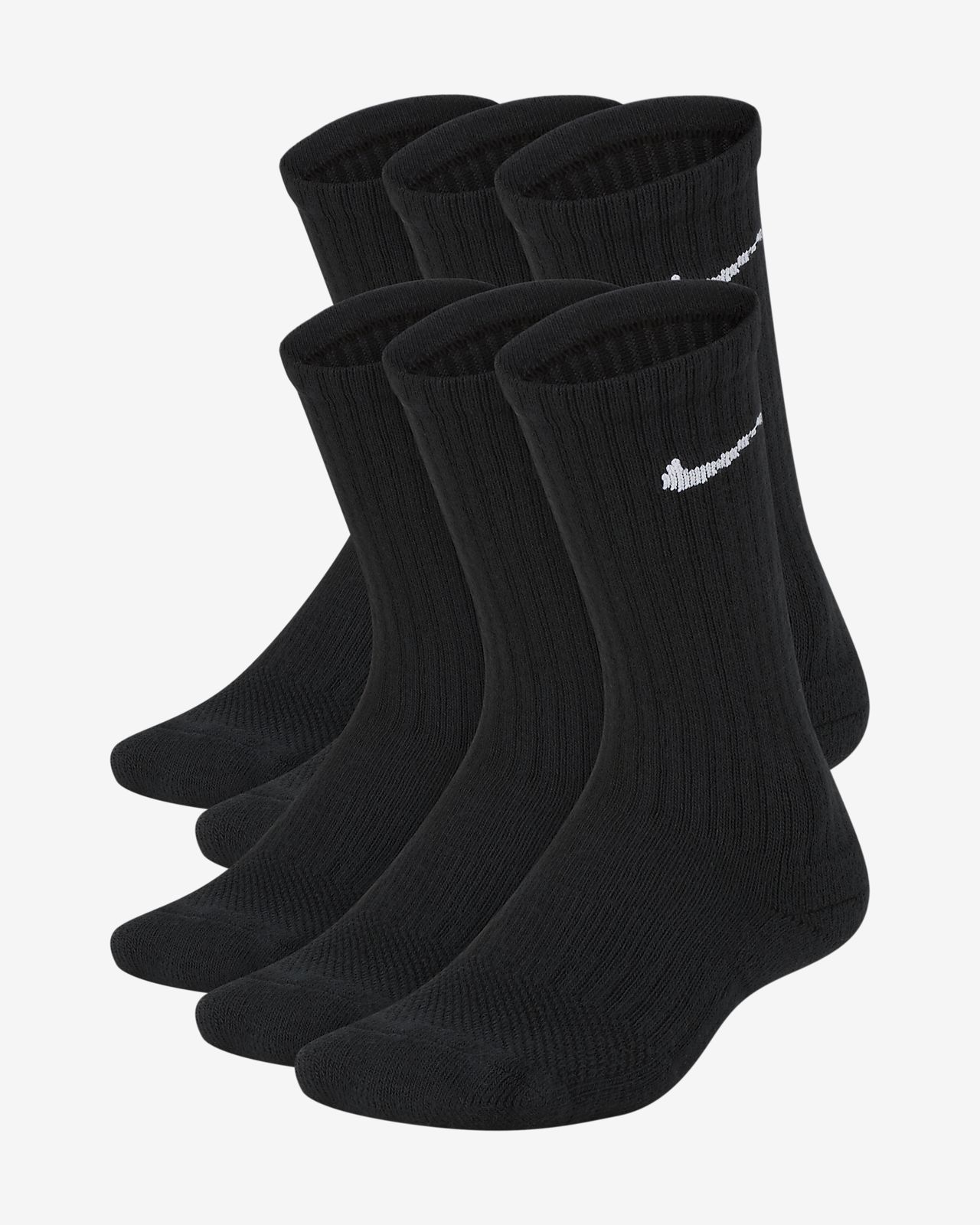 Nike Performance Cushioned Crew Kids' Training Socks (6 Pair)