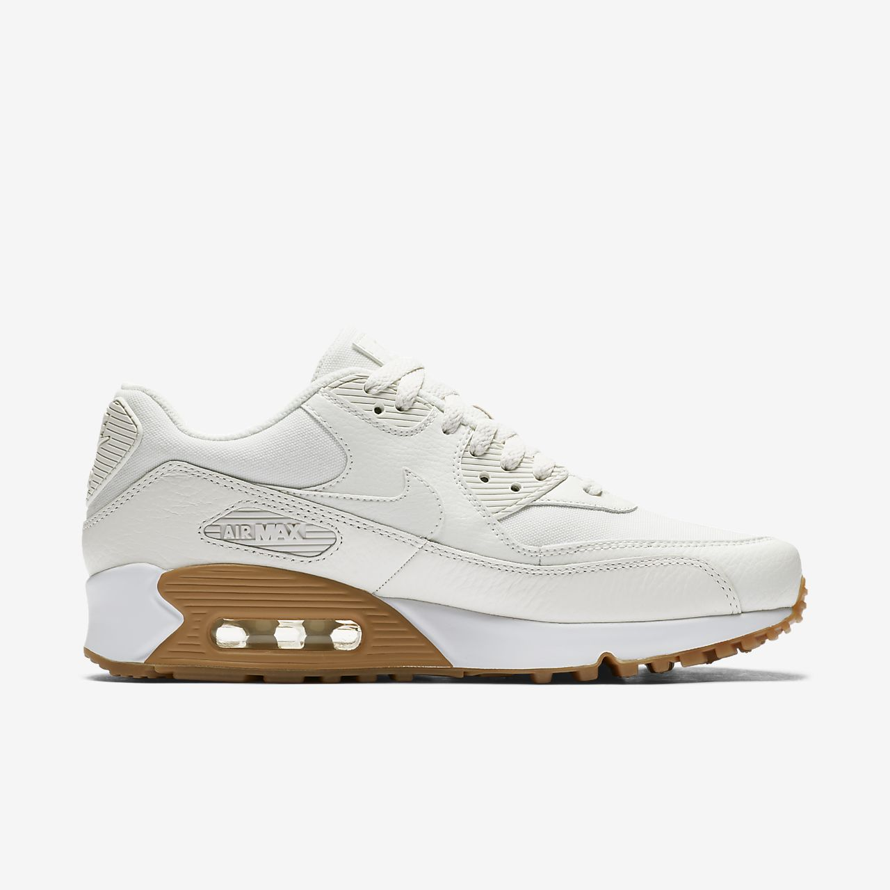 nike air max 90 premium women's shoe white