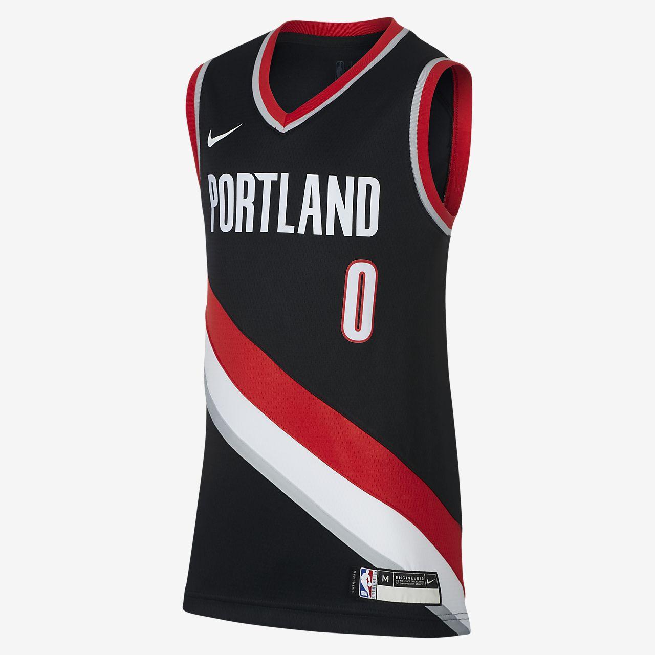 波特兰开拓者队 Icon Edition Swingman Jersey Nike NBA Jersey大童(男孩)球衣