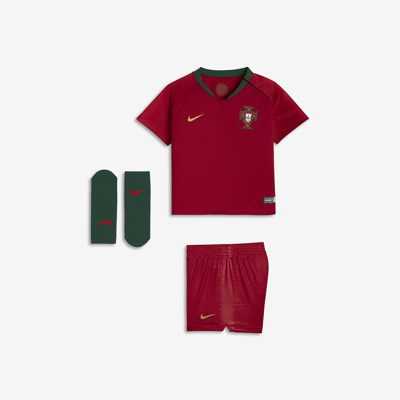 2018 Portugal Stadium Home Fußballtrikot-Set für Kleinkinder