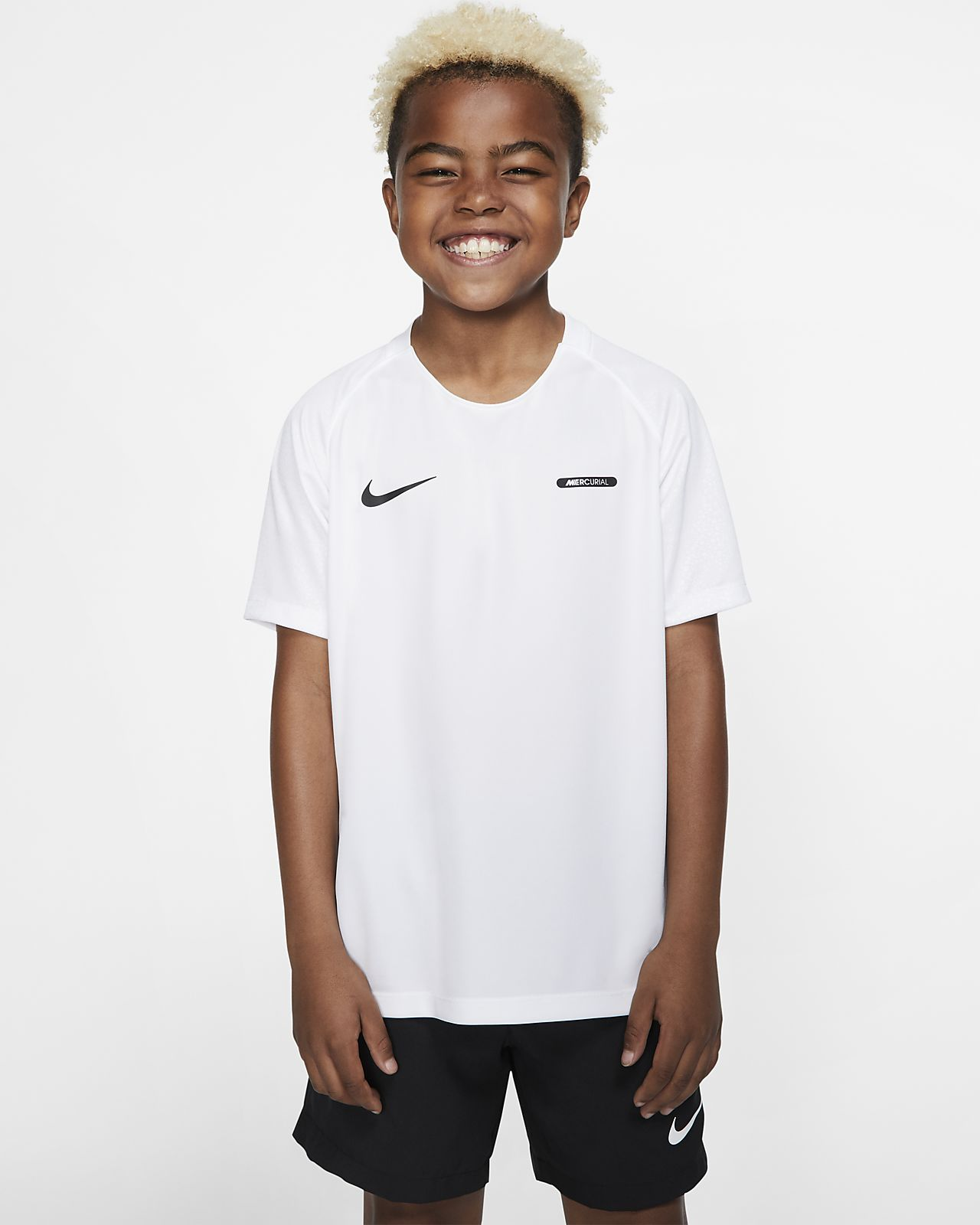 Nike Dri-FIT Mercurial耐克刺客系列大童(男孩)短袖足球上衣