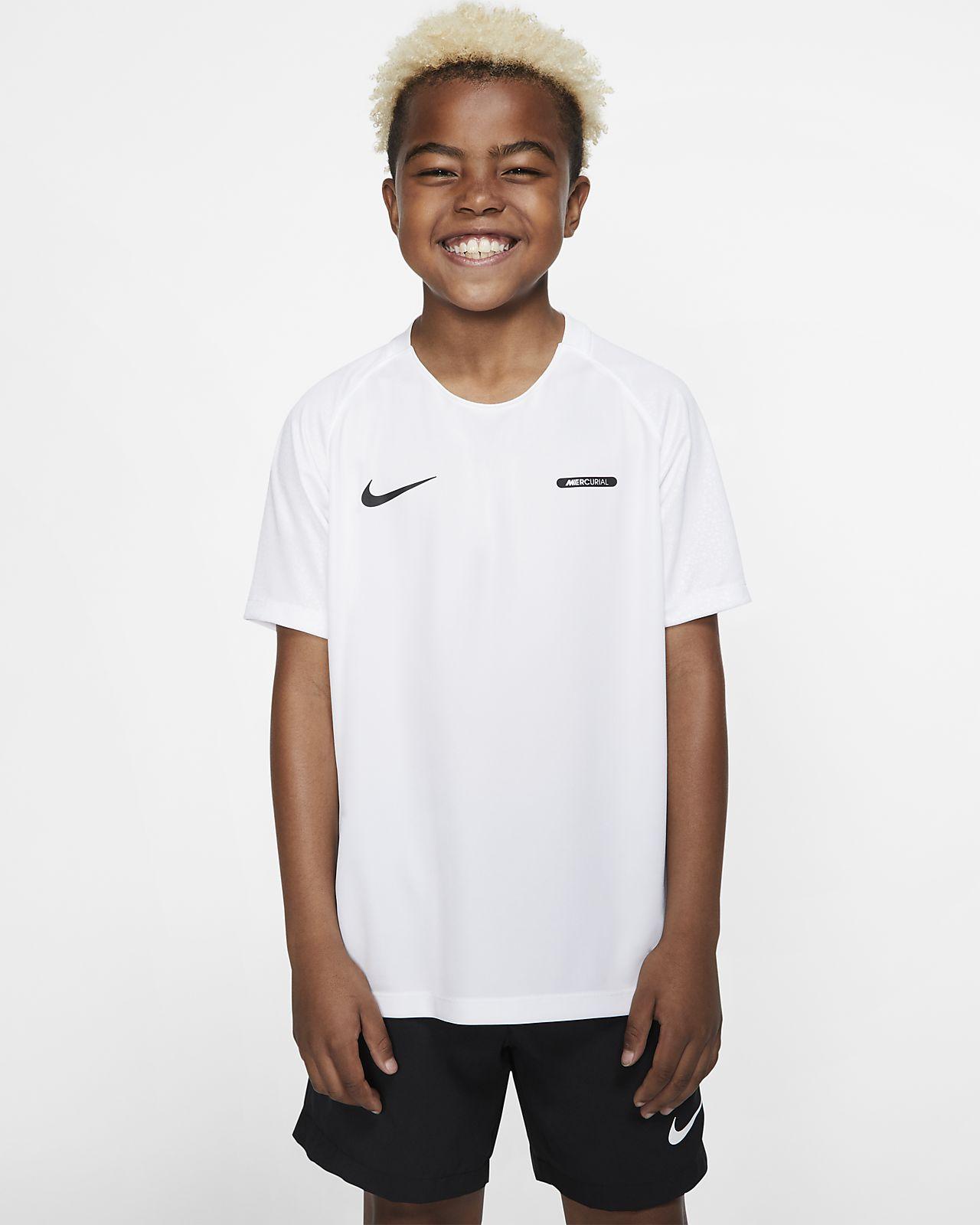 Nike Dri-FIT Mercurial kortermet fotballoverdel til store barn