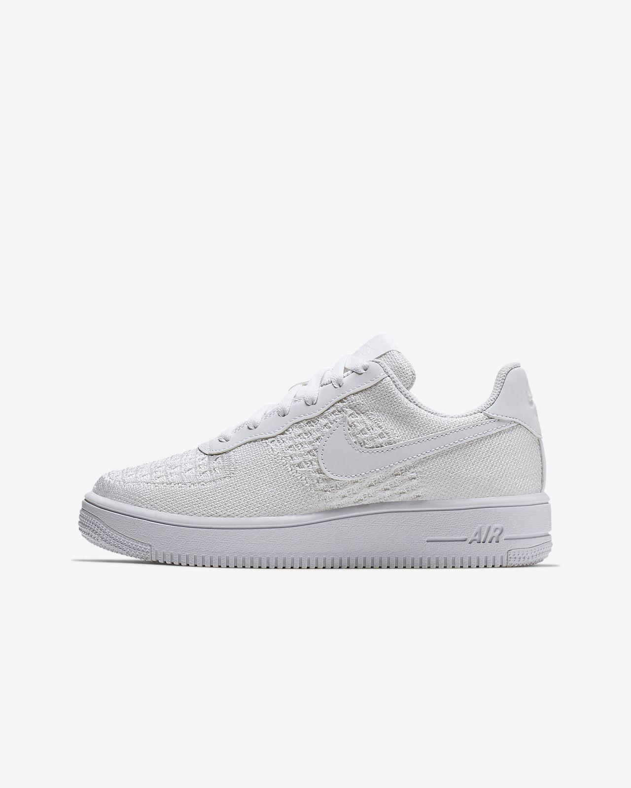 brand new 16523 be479 ... Chaussure Nike Air Force 1 Flyknit 2.0 pour Jeune enfant Enfant plus âgé