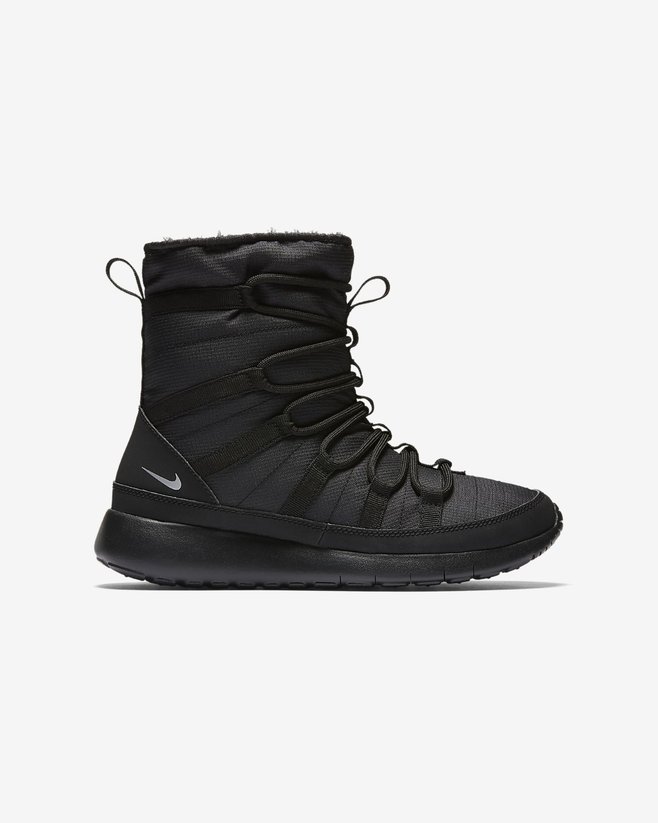 womens nike black roshe one hi trainers sale