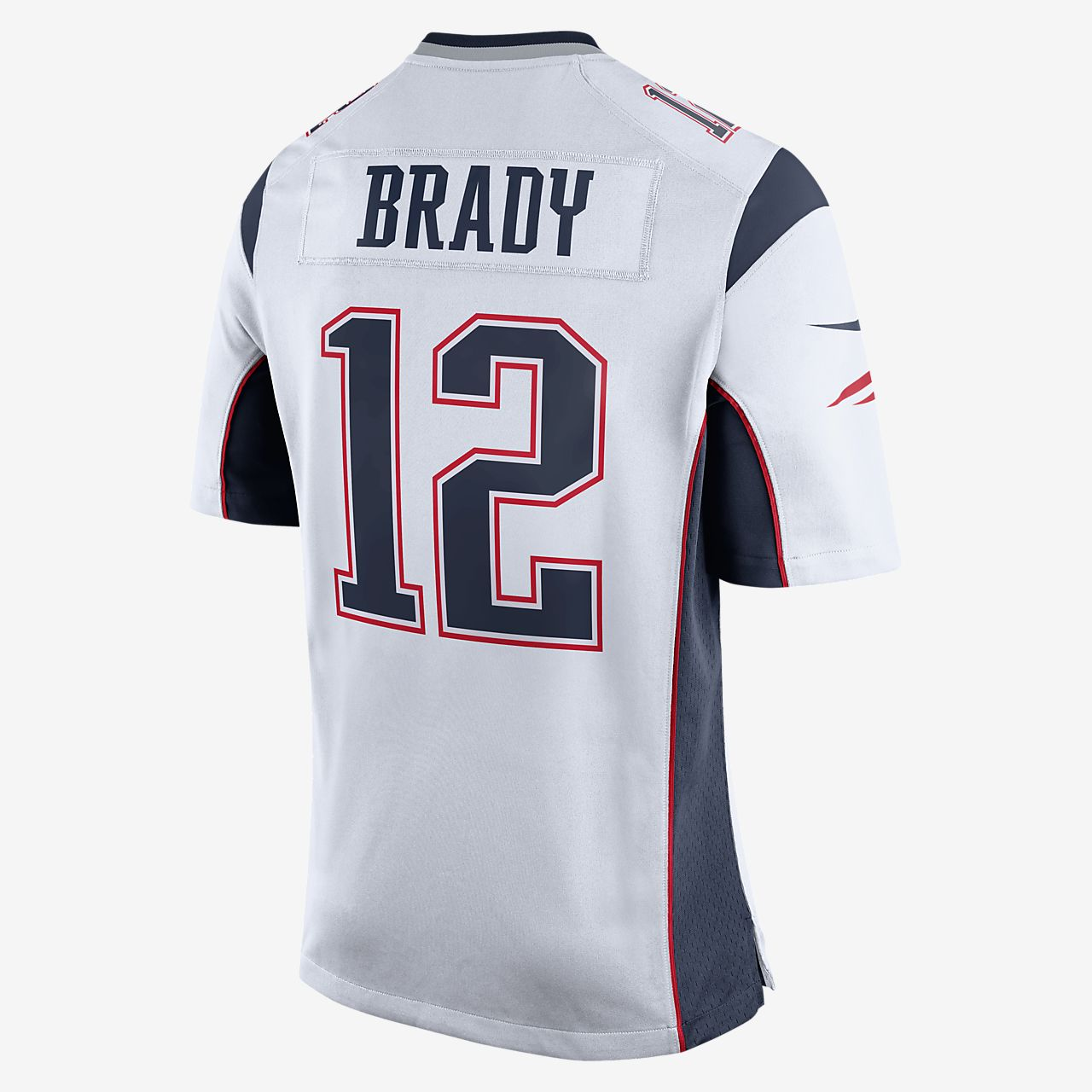 1c77504182ee1 ... Camiseta oficial de fútbol americano de visitante para hombre de NFL  New England Patriots (Tom