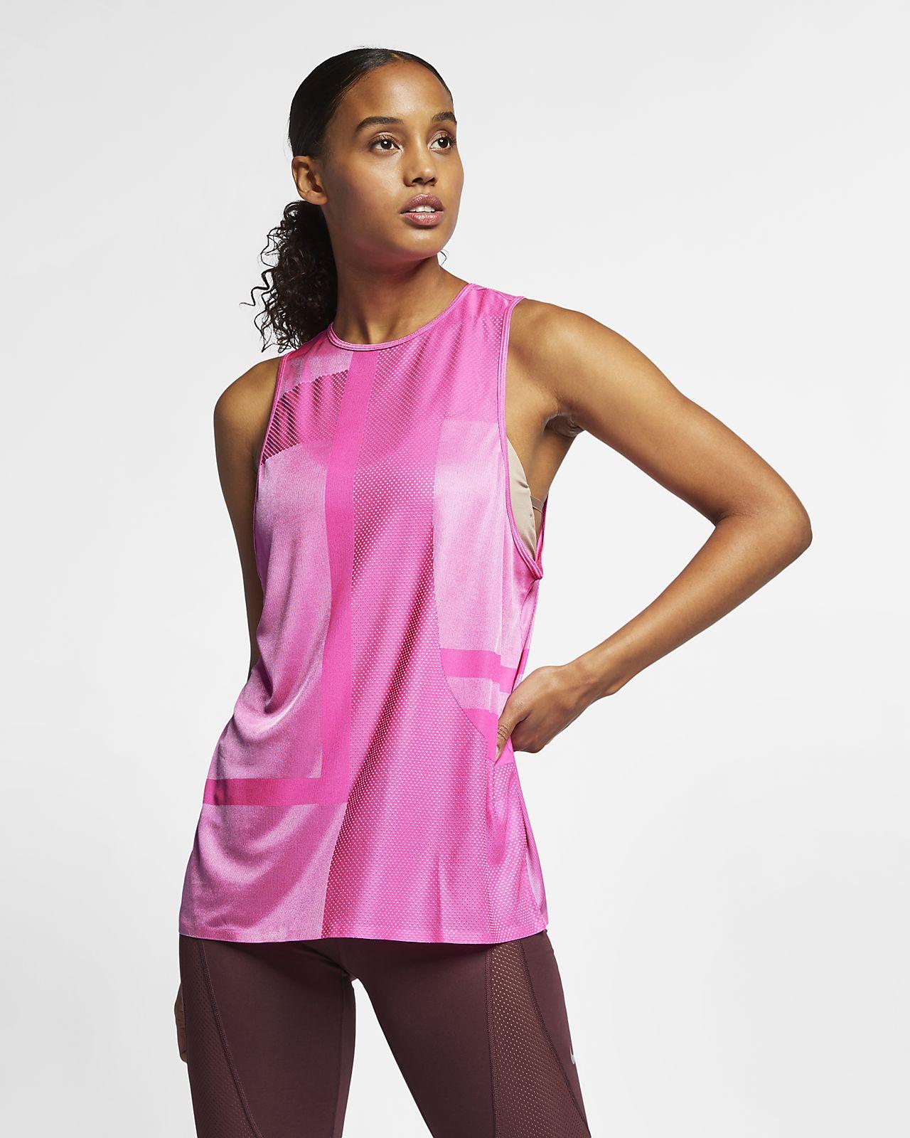 Camiseta de tirantes de entrenamiento tejida para mujer Nike