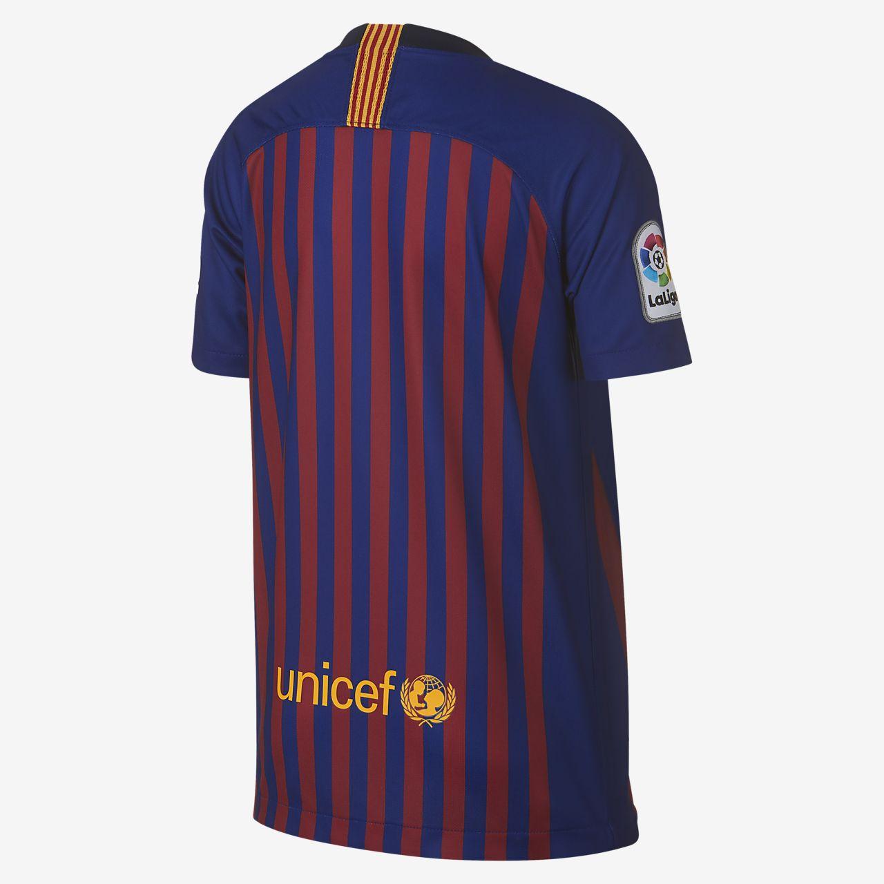 dbaf307cb 2018 19 FC Barcelona Stadium Home Big Kids  Soccer Jersey. Nike.com