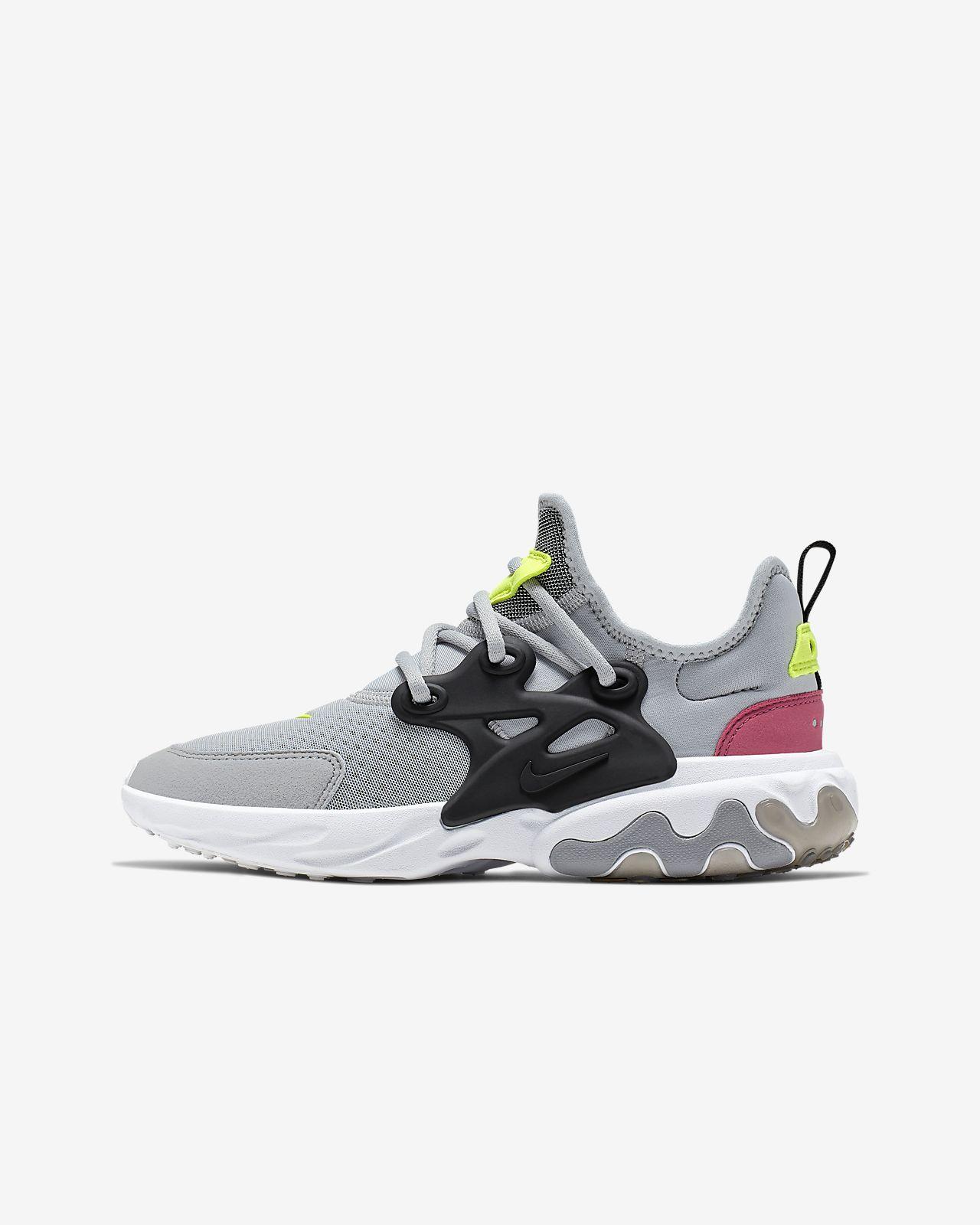 Âgé Chaussure Enfant Plus Nike Pour React Presto n08XwkOP