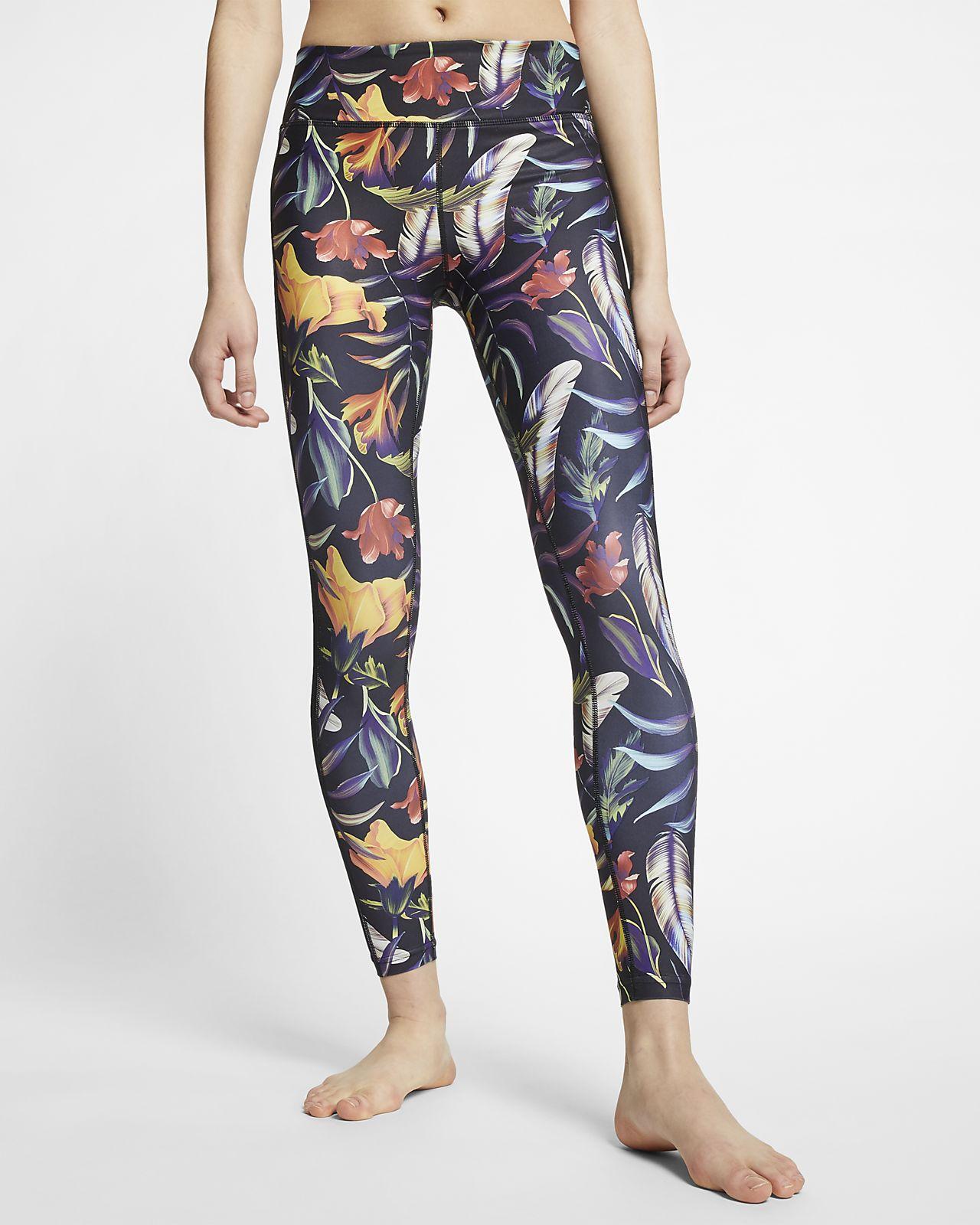 Hurley Quick Dry Surf-Leggings mit Floralmuster für Damen