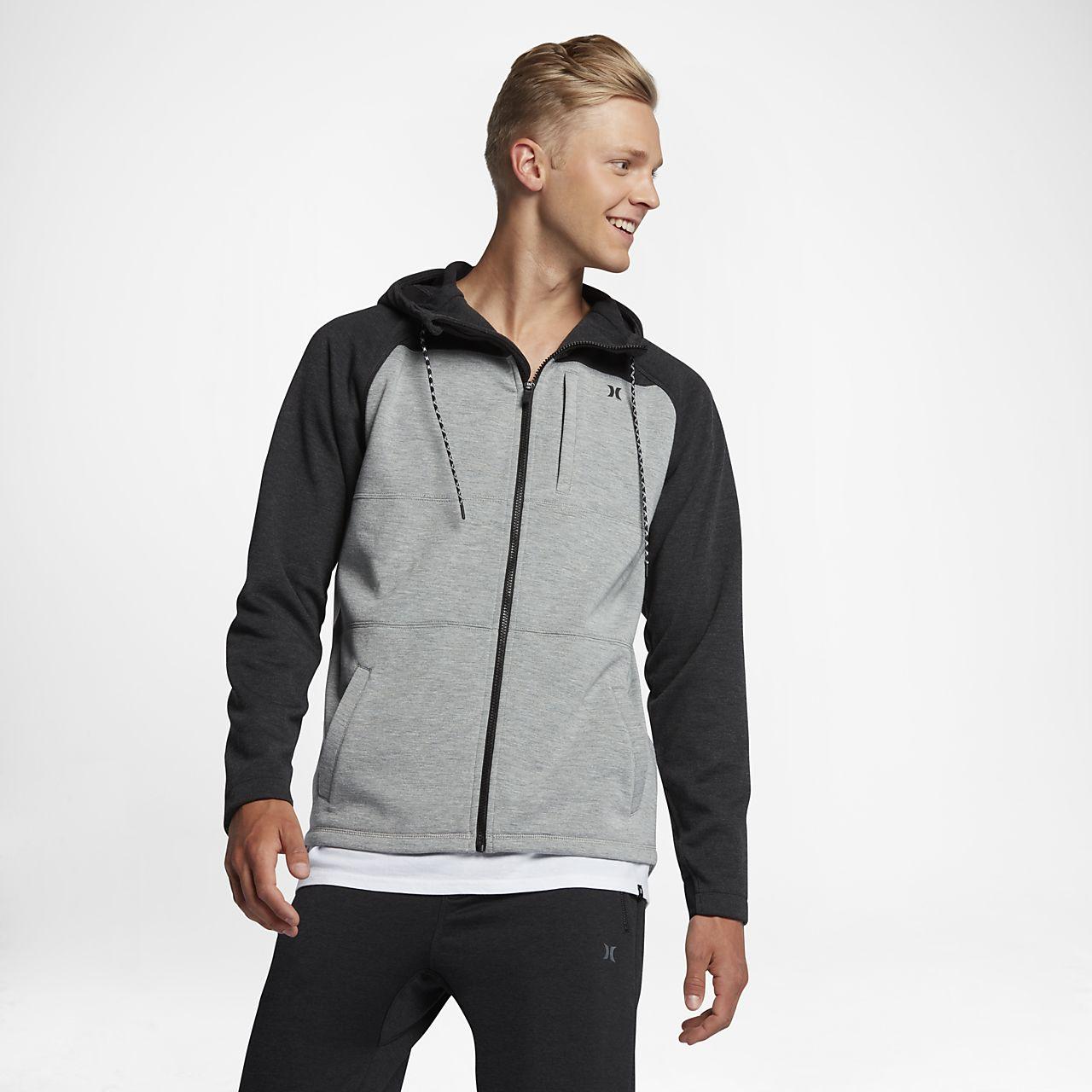 Sudadera con capucha para hombre Hurley Therma Protect Plus Zip