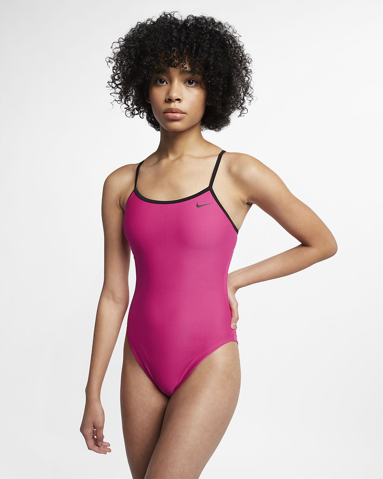Nike Swim Solid Crossback Cut-Out einteiliger Damen-Badeanzug