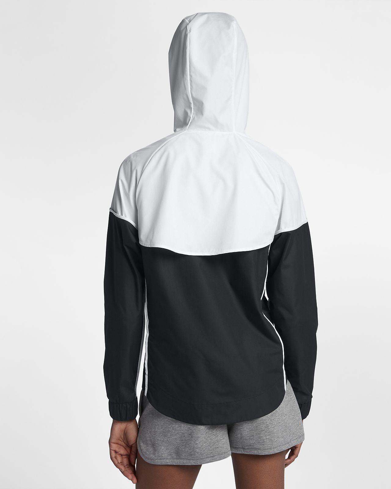 coupe-vent sport doublé zippé à capuche femme nike