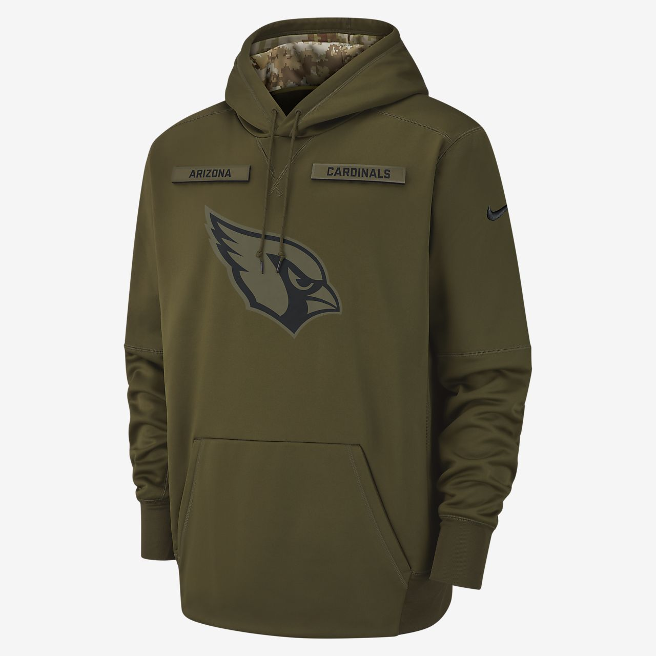 Nike Therma Salute to Service (NFL Cardinals) Big Kids' Hoodie
