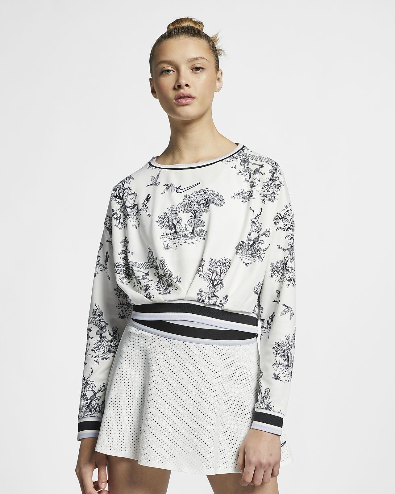 Женская теннисная футболка с длинным рукавом NikeCourt Dri-FIT