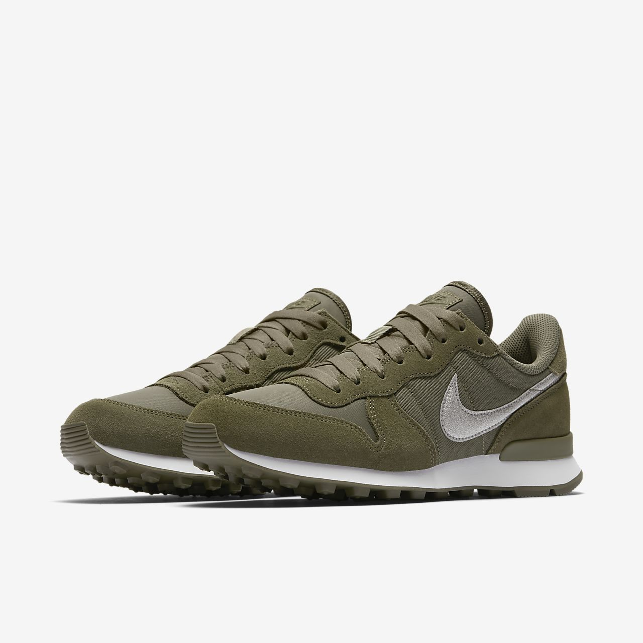 Scarpa nike internationalist glitter medium olive bianco medium     12d927