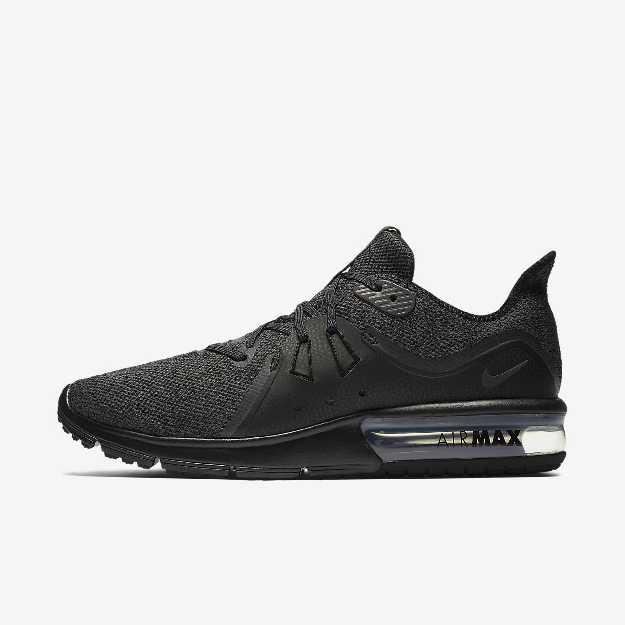 Nike Performance AIR MAX SEQUENT 3 - Neutral running shoes - black/anthracite VGl7HdrC