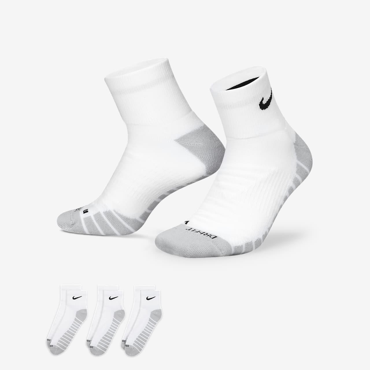 b64452652ae68 Chaussettes de training Nike Dry Cushion Quarter (3 paires). Nike.com FR