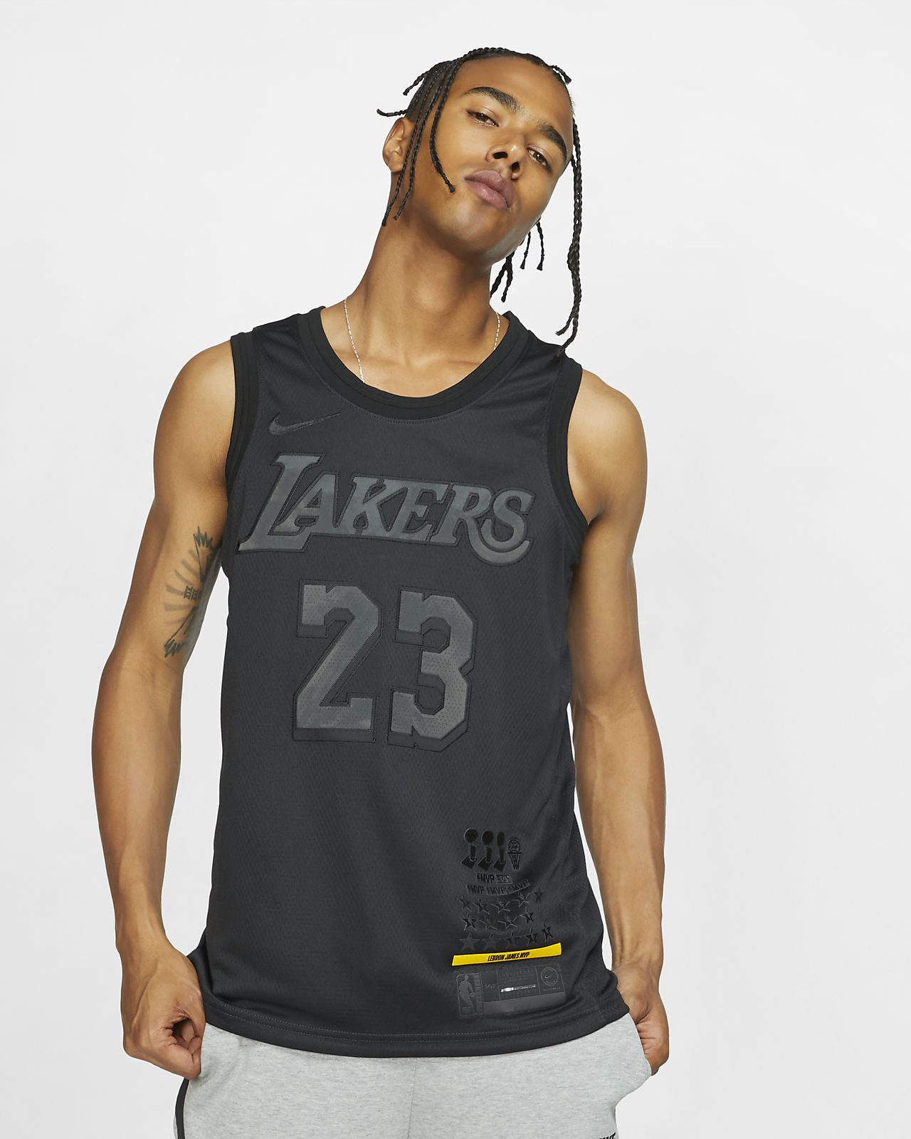 new concept 49cfd 1d7aa ... LeBron James MVP Swingman (Los Angeles Lakers) Men s Nike NBA Connected  Jersey