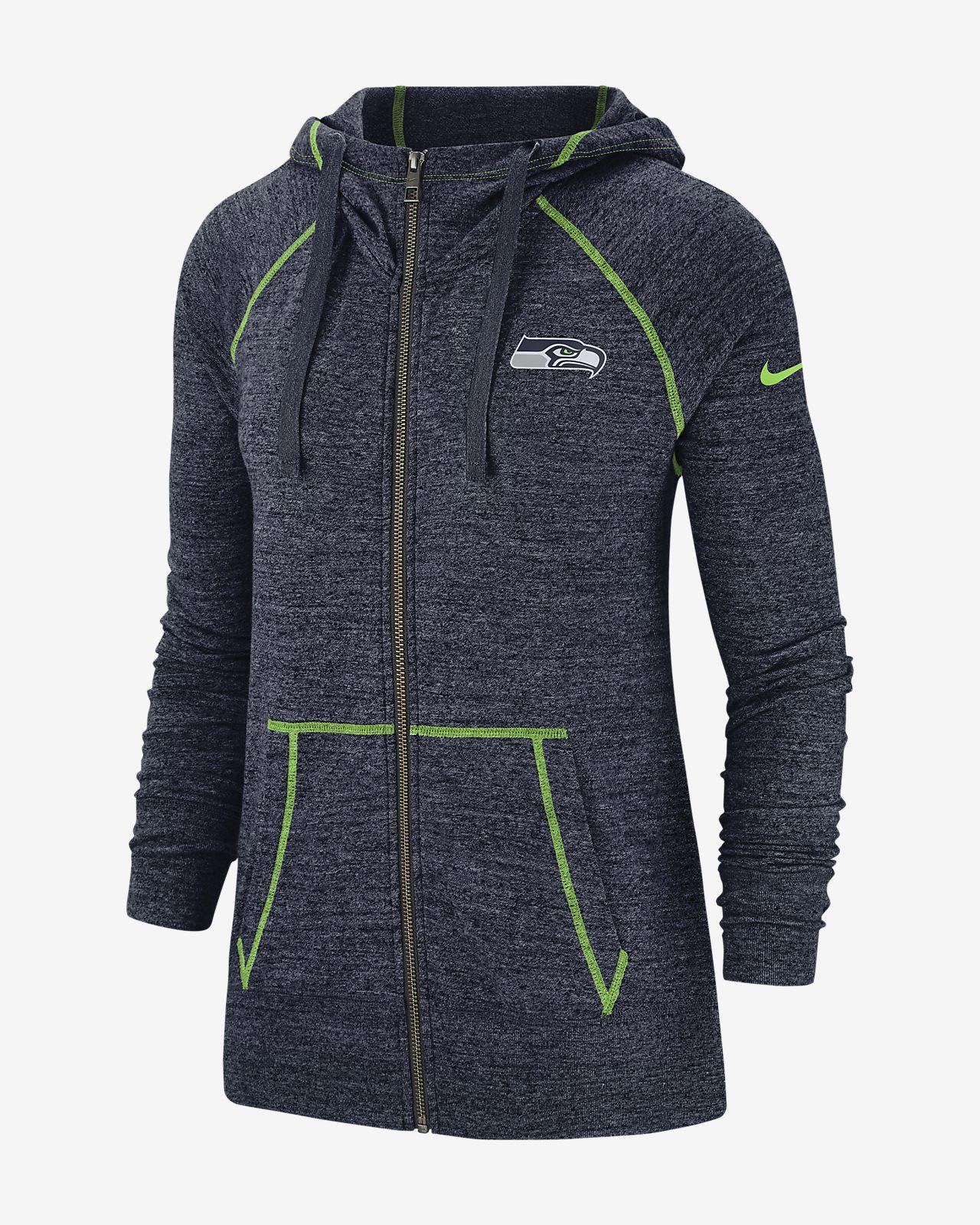 cheaper 68759 251f3 Nike Gym Vintage (NFL Seahawks) Women's Full-Zip Hoodie