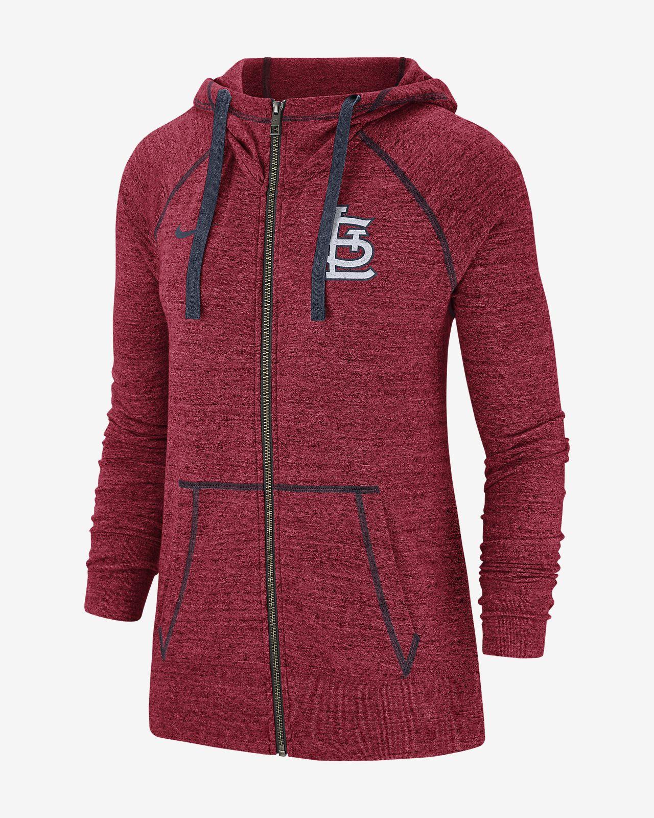 Nike Gym Vintage (MLB Cardinals) Women's Full-Zip Hoodie