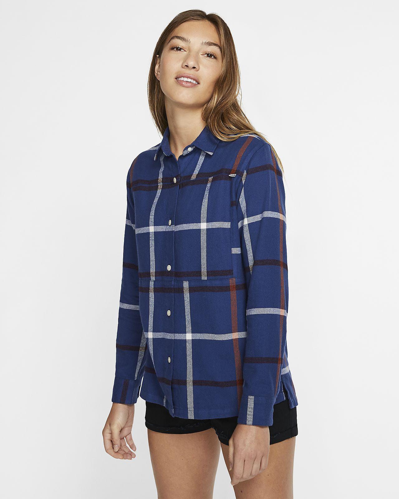 Hurley Wilson Flannel Geweven shirt met lange mouwen voor dames