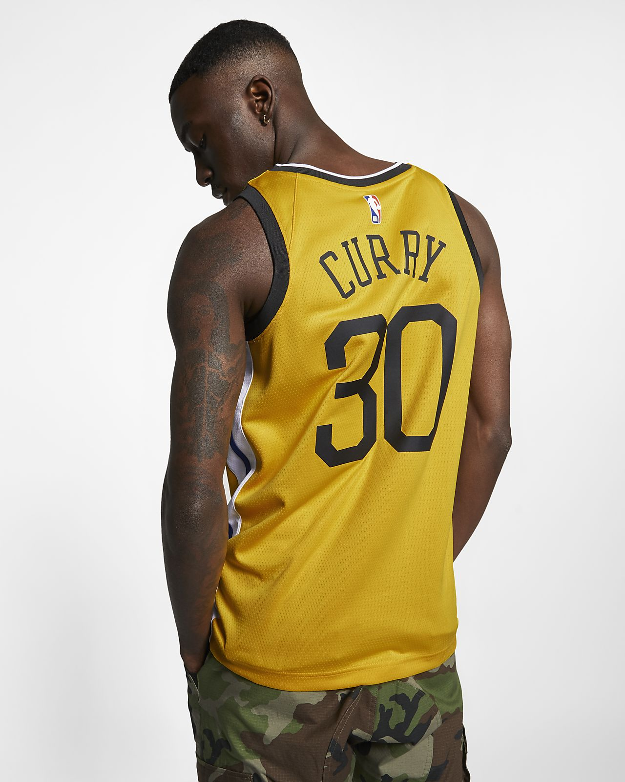 71e16ac09a8 ... Stephen Curry Earned City Edition Swingman (Golden State Warriors)  Men s Nike NBA Connected Jersey