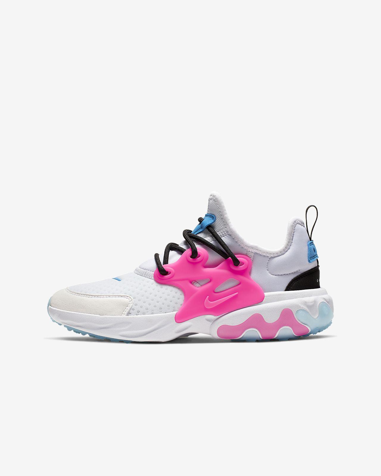 Calzado para niños talla grande Nike React Presto