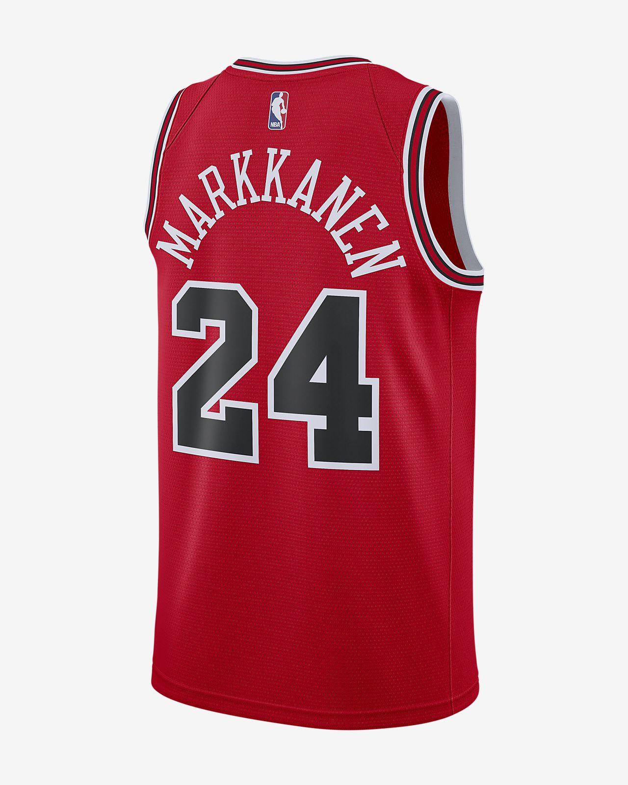 ... Camiseta conectada Nike NBA para hombre Lauri Markkanen Icon Edition  Swingman (Chicago Bulls) 3baea350110