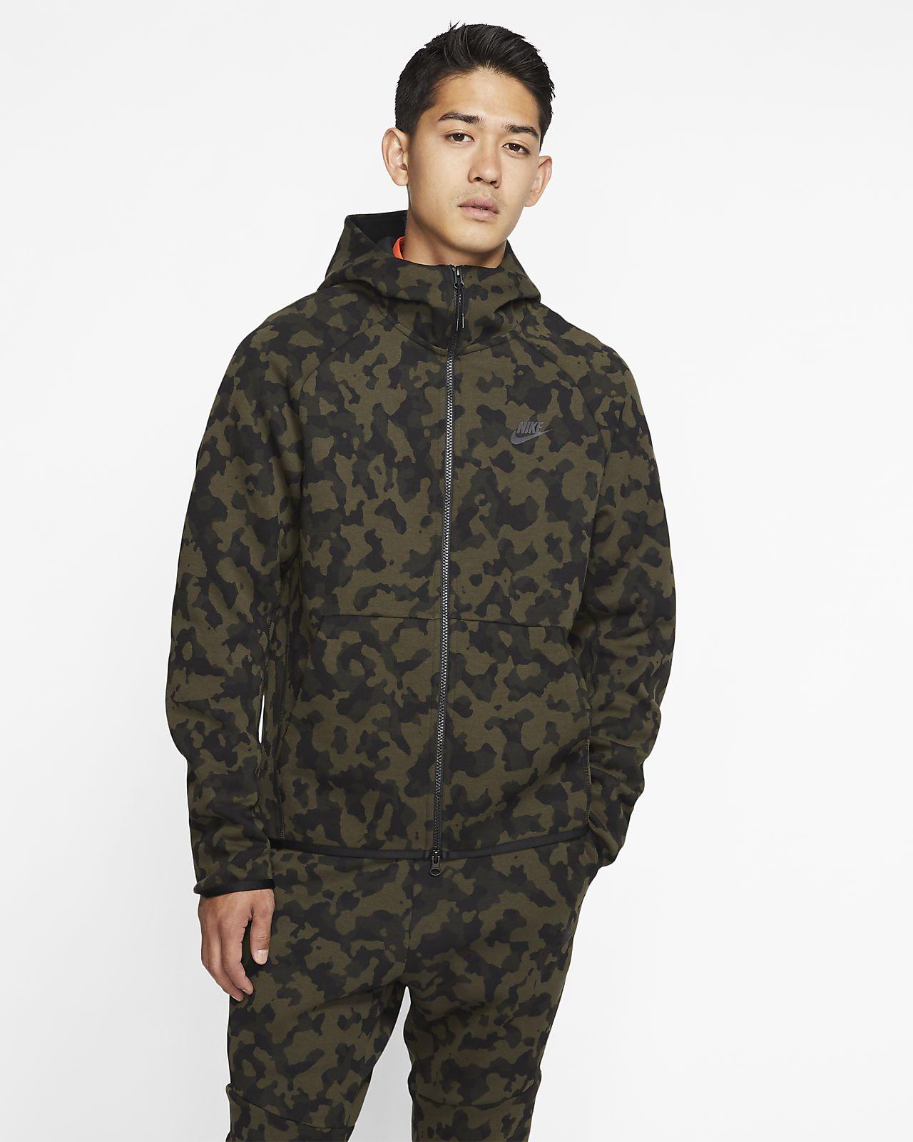 Męska bluza z kapturem, nadrukiem i zamkiem na całej długości Nike Sportswear Tech Fleece