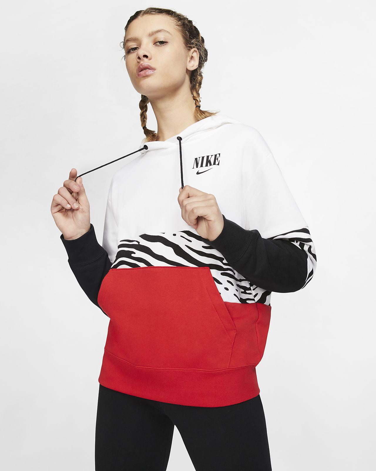 Sudadera con capucha sin cierre de French Terry con estampado para mujer Nike Sportswear Essential