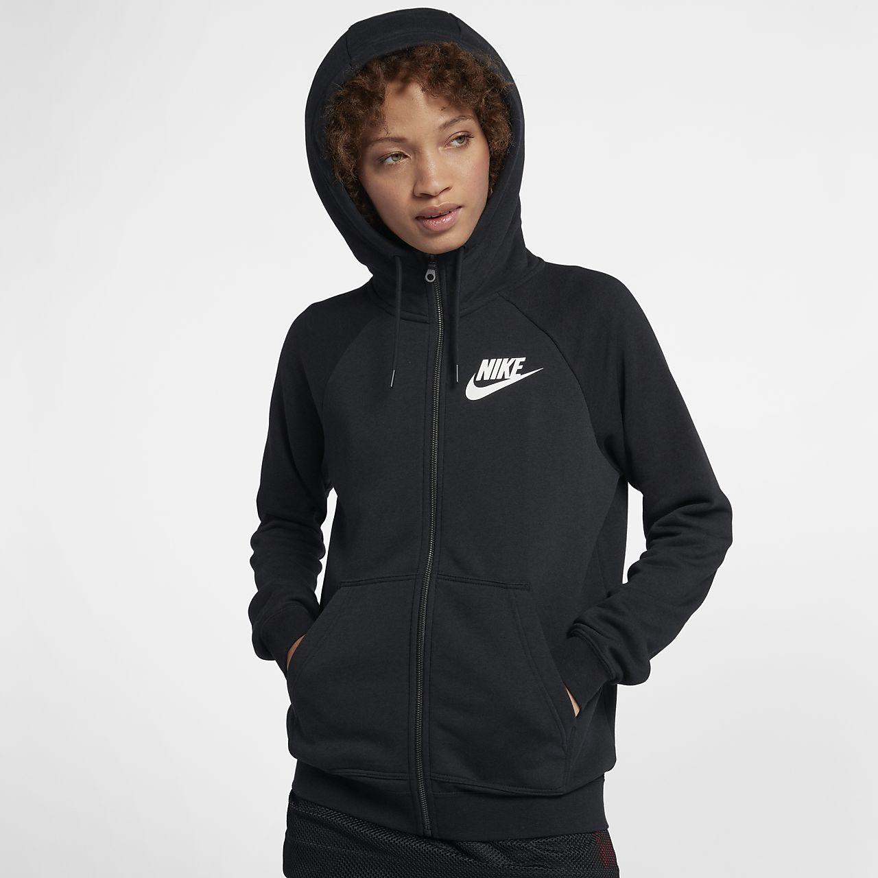 เสื้อมีฮู้ดซิปยาวผู้หญิง Nike Sportswear Rally