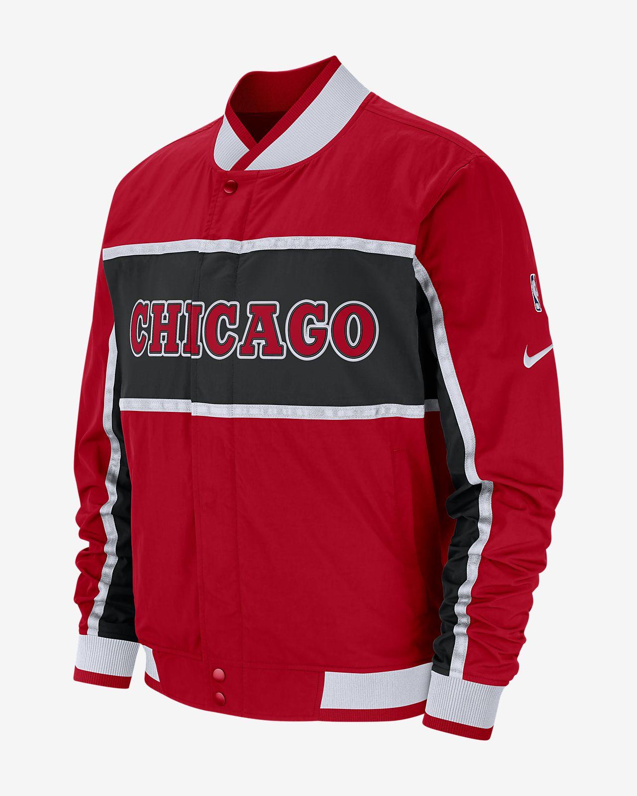 เสื้อแจ็คเก็ต NBA ผู้ชาย Chicago Bulls Nike Courtside