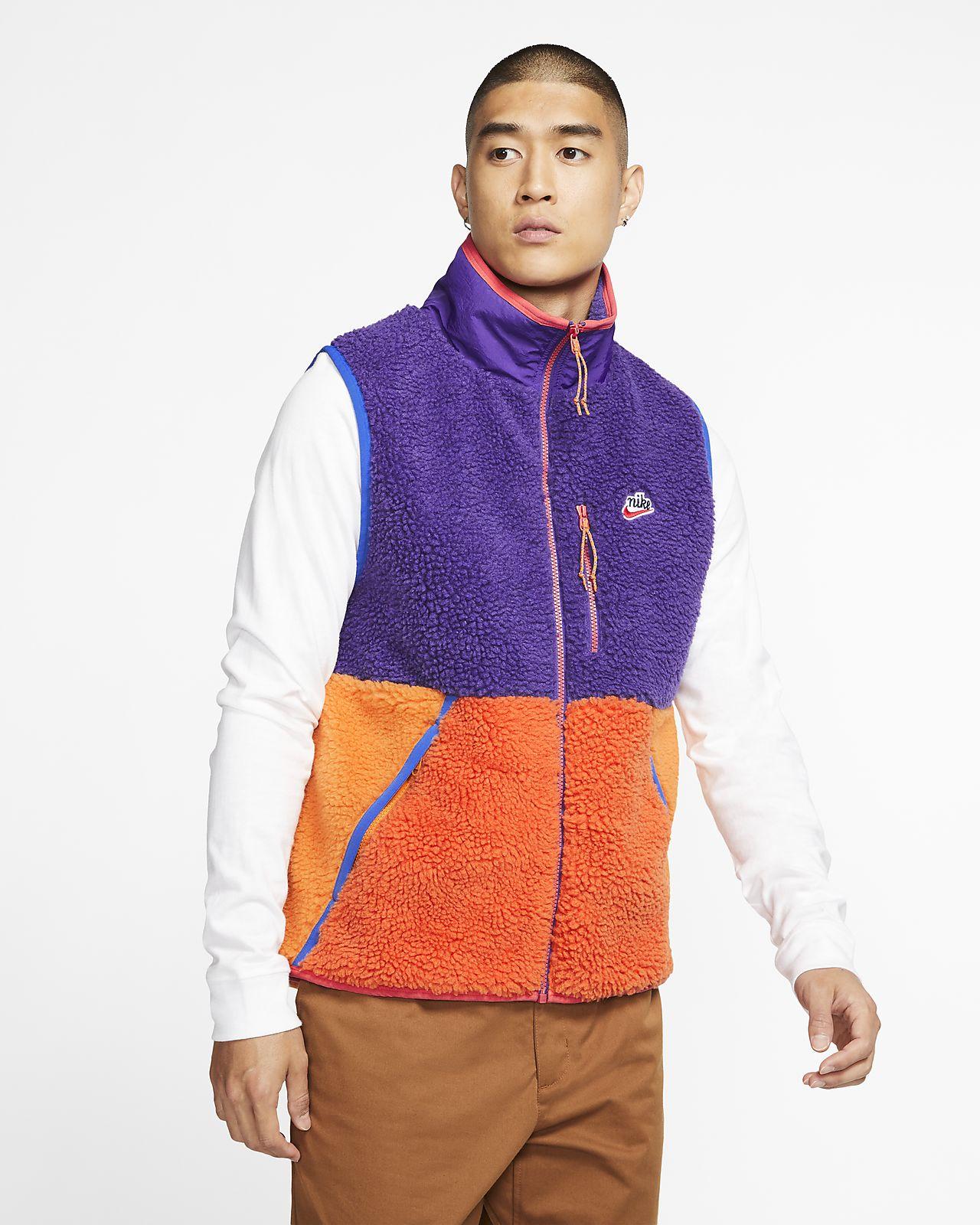 Nike Sportswear Bodywarmer van sherpafleece voor heren