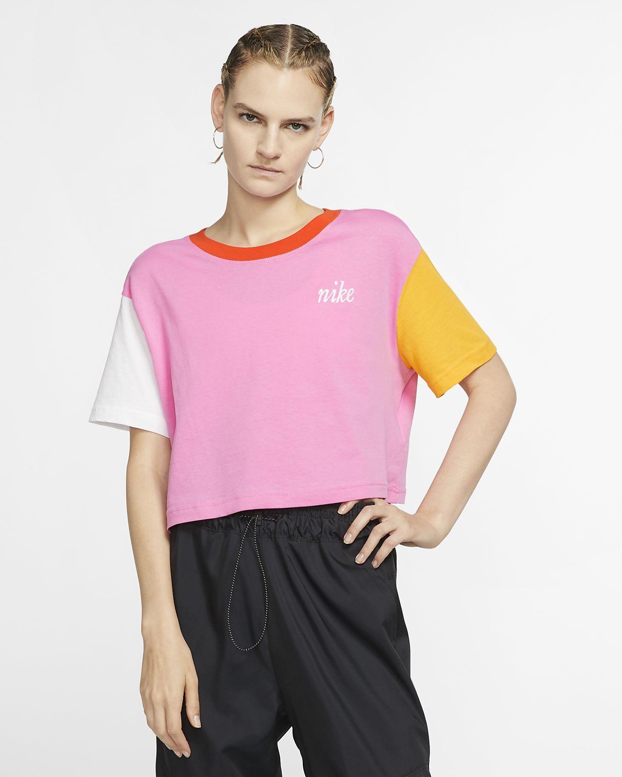 T-shirt recortada Nike Sportswear para mulher