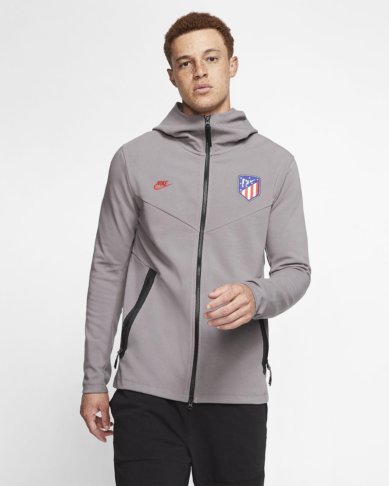 Atletico de Madrid Tech Pack-hættetrøje med lynlås til mænd