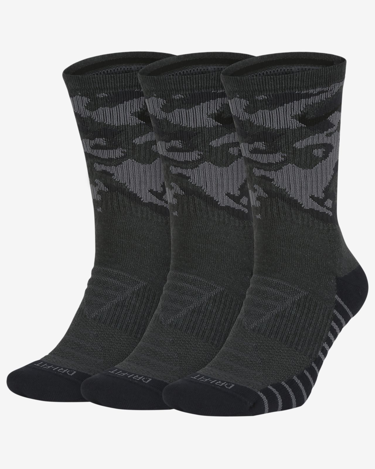 Nike Everyday Max Cushion Camo Training Crew Socks (3 Pairs). Nike ... 29260d6a1