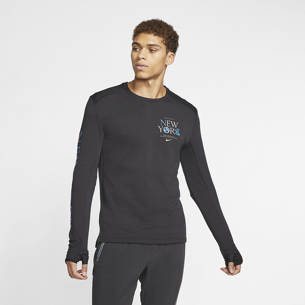 Camisola de running de manga comprida Nike Therma Sphere 3.0 NYC para homem